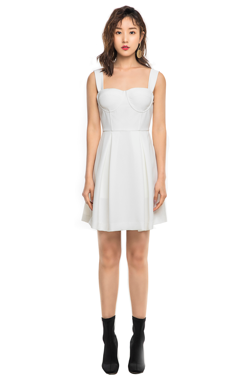 White Cup Sling Dress