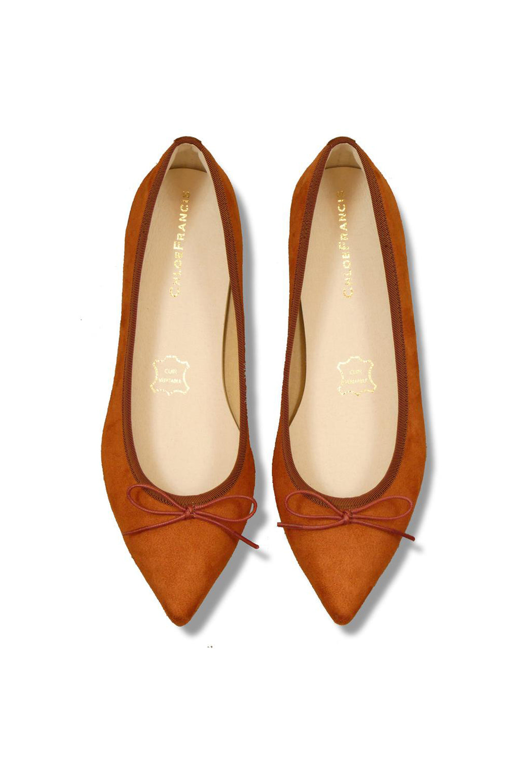 Orange Point-Toe Flats