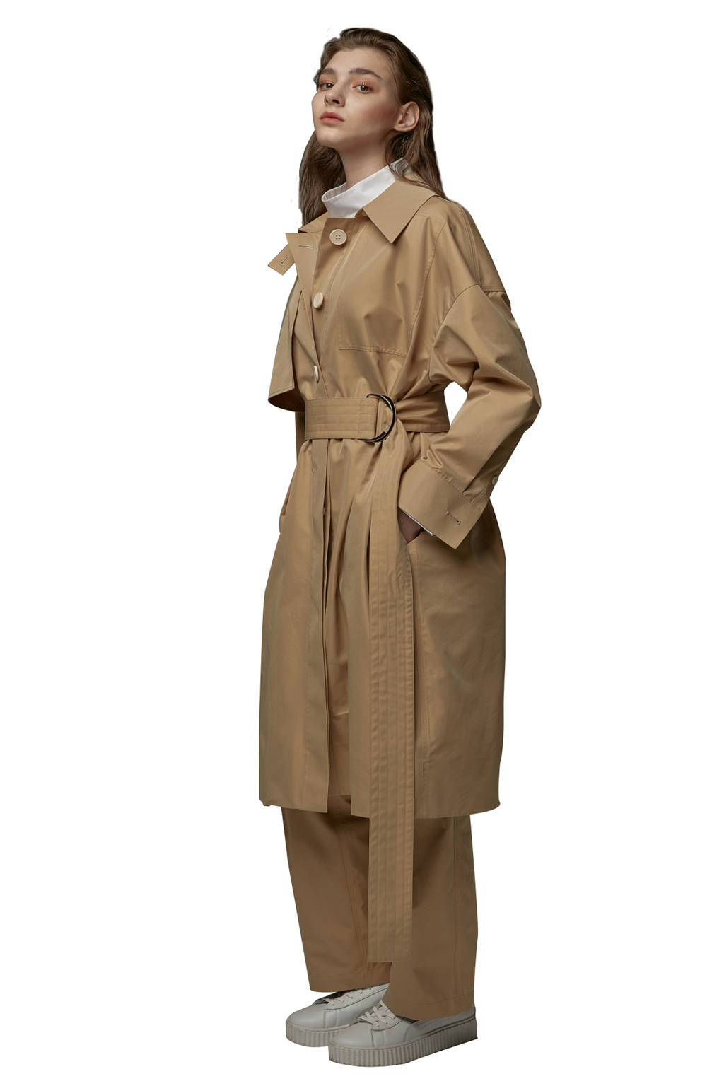 Light Khaki Trench Coat