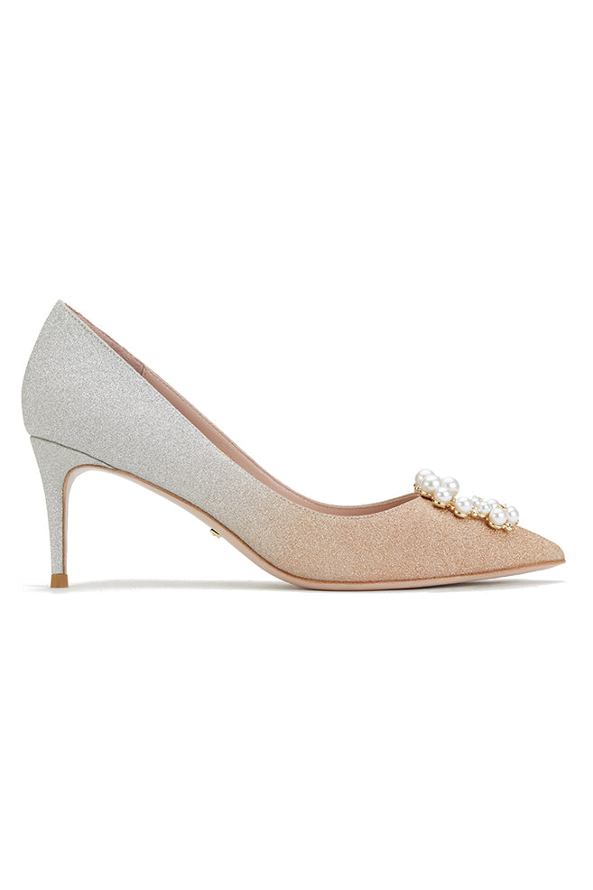 Gradient Glitt Pearl High Heels