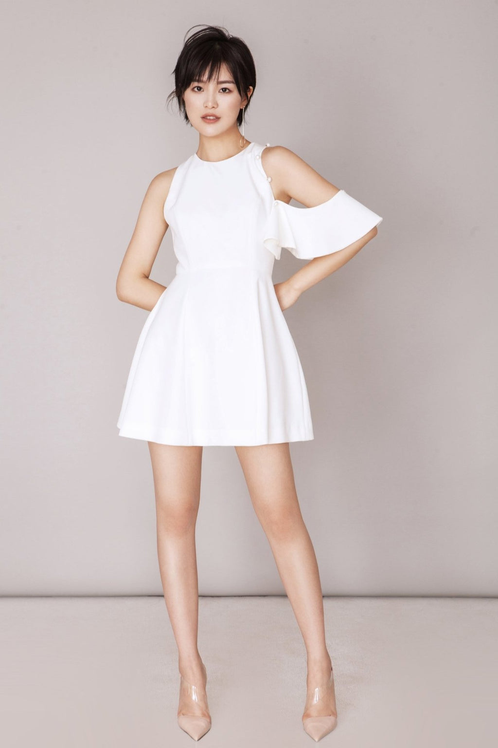 Fever Wang removable-sleeve dress