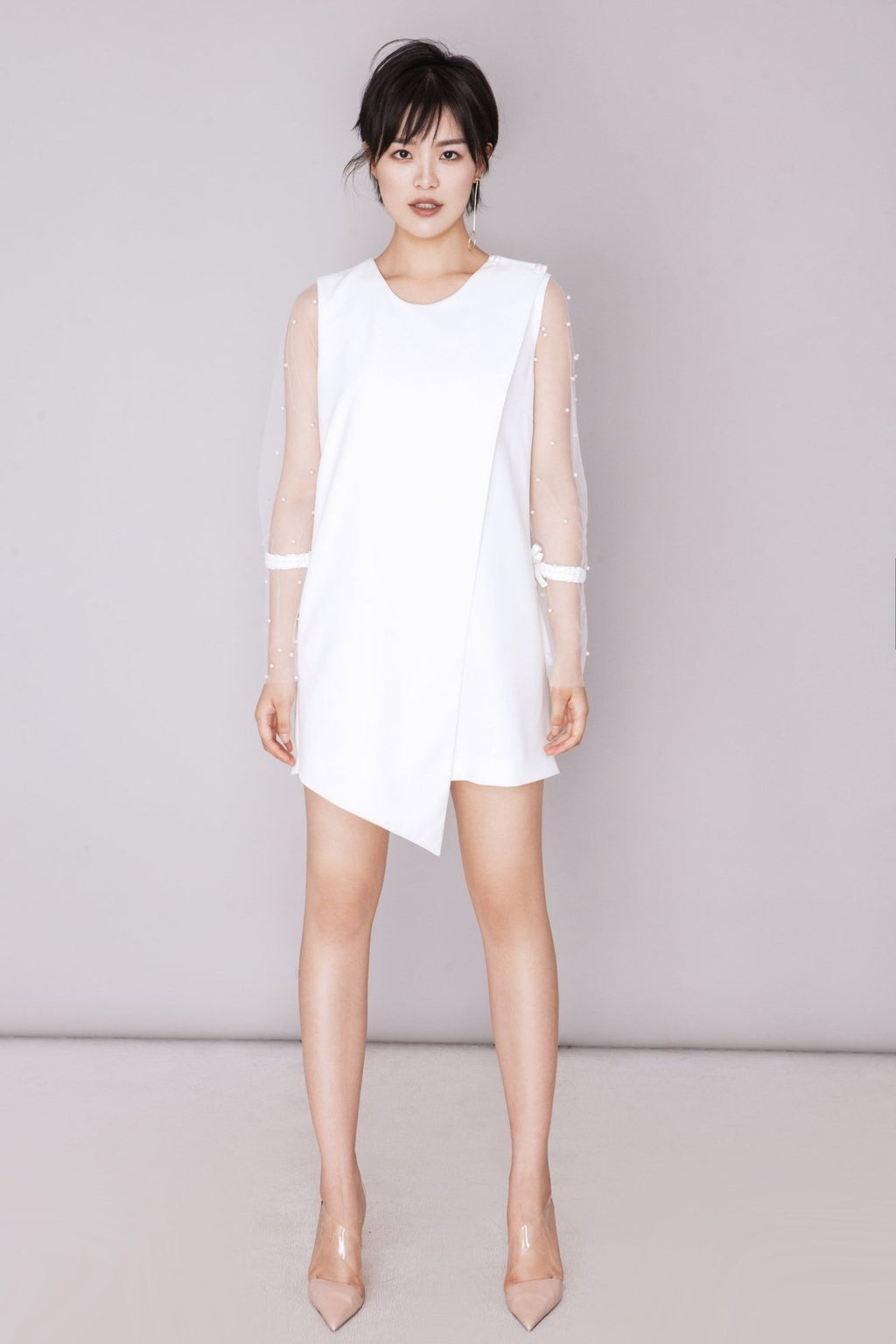 Fever Wang pearl-voile dress