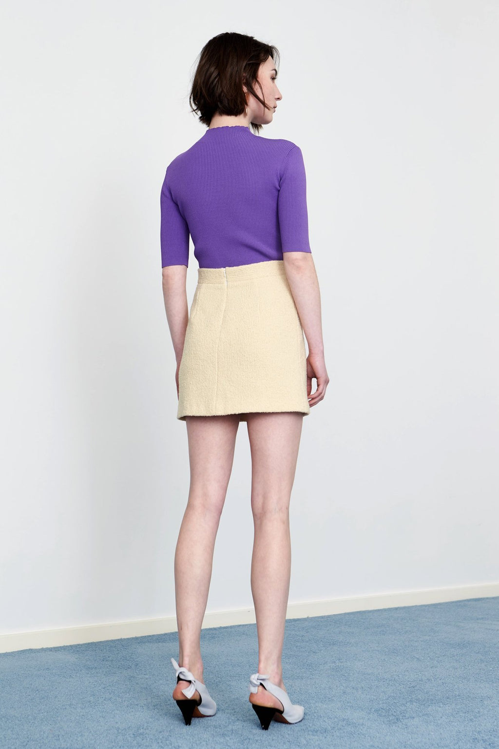YUEL XIANG yellow wool skirt