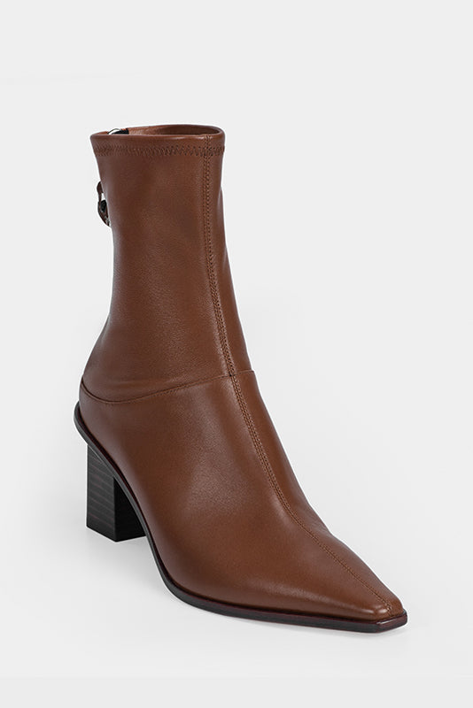 Rumble Stretch Sheepskin Booties - Brown