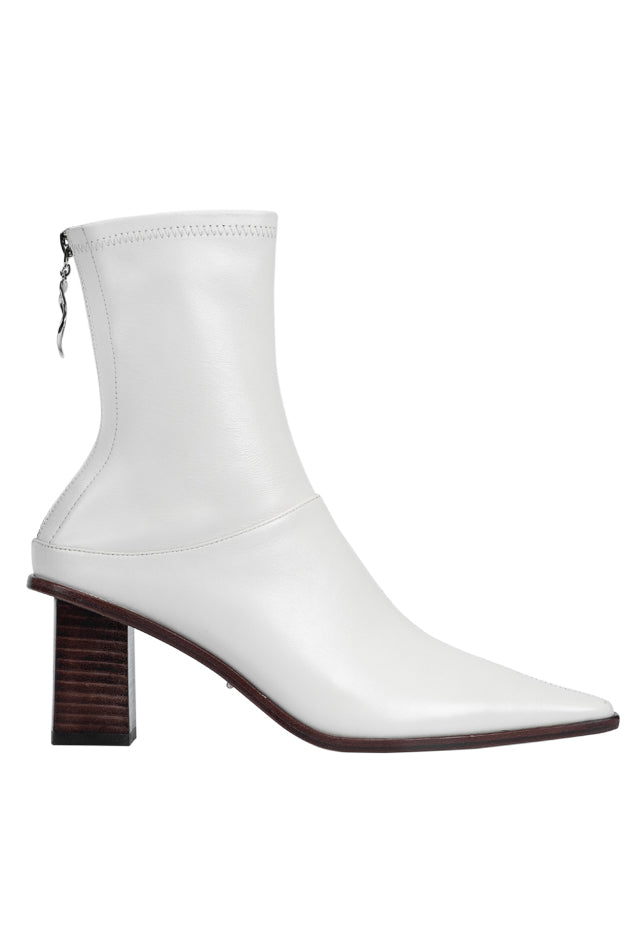 Rumble Stretch Sheepskin Booties - White