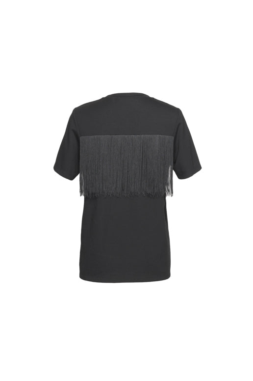 Fringed Short-Sleeved T-Shirt