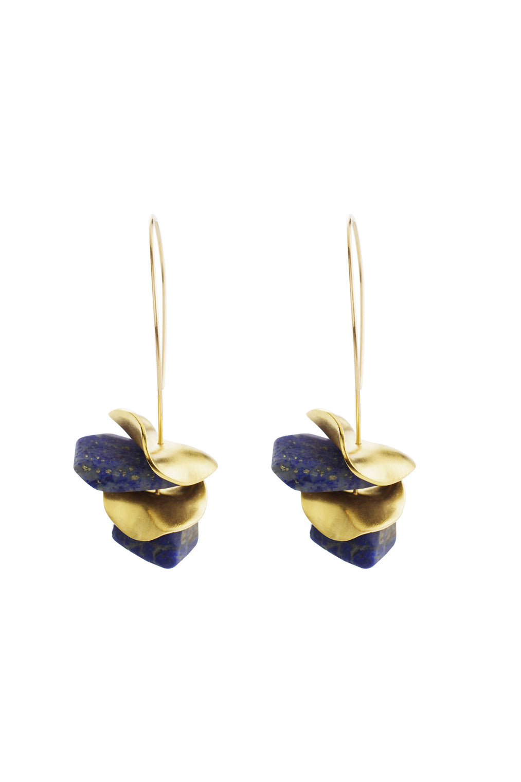 Lapis Scallop Earrings