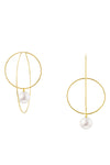 Pearl Orbit Hoop Earrings