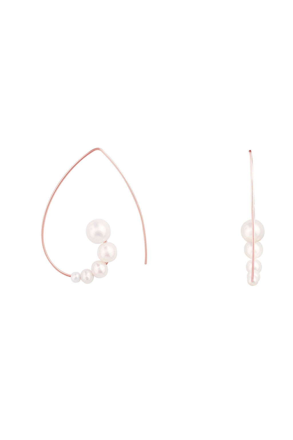 Mini Pearl Swirl Earrings
