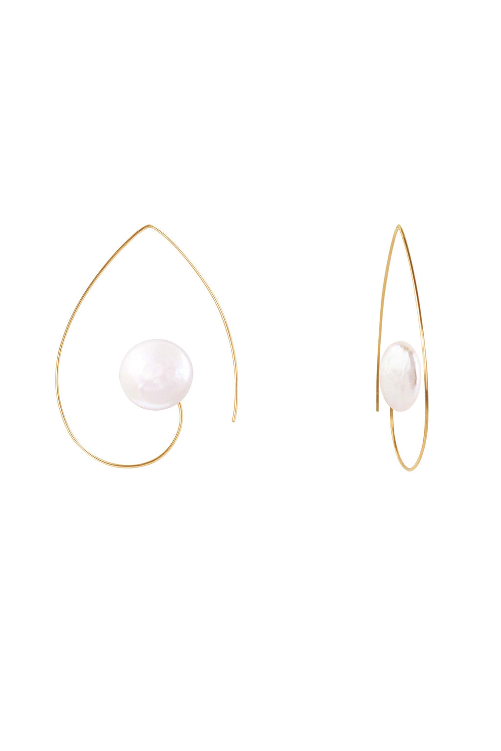 Pearl Swirl Earrings