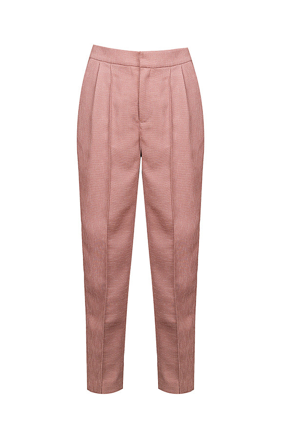 Pink Pleated Harem Pants