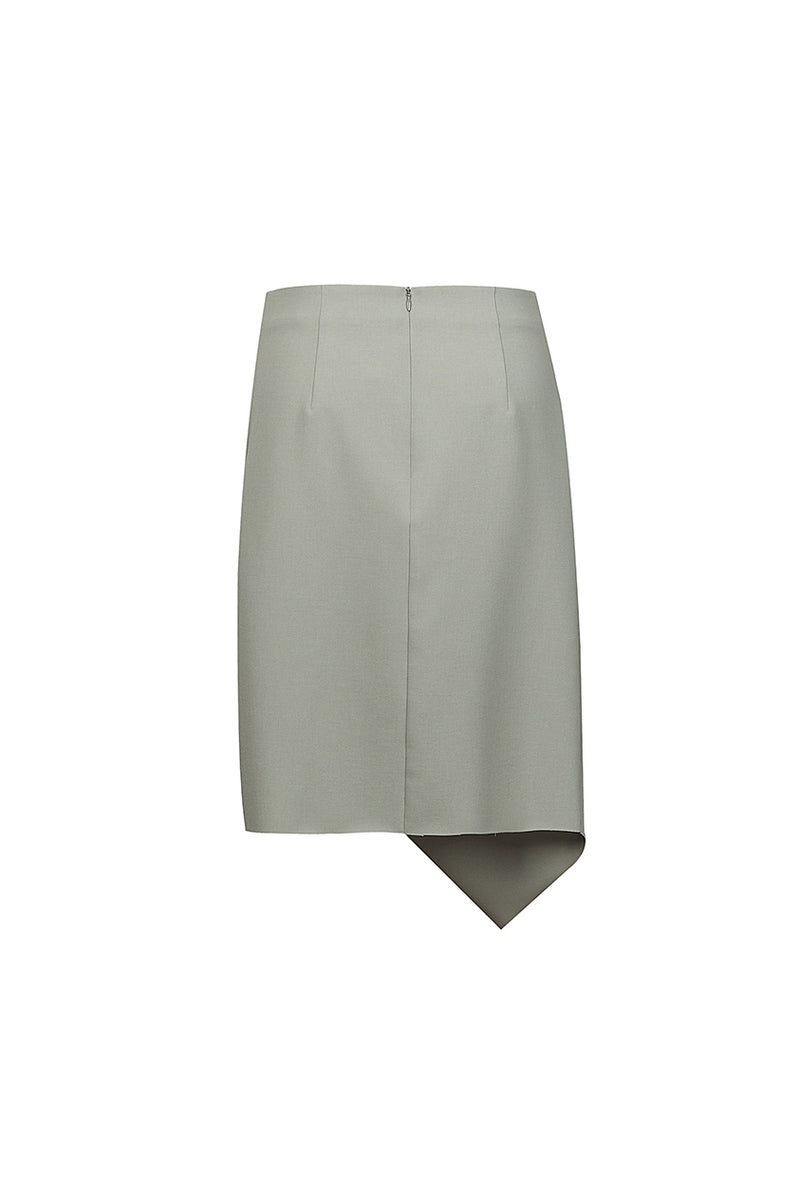 Side Slit Skirt - Green
