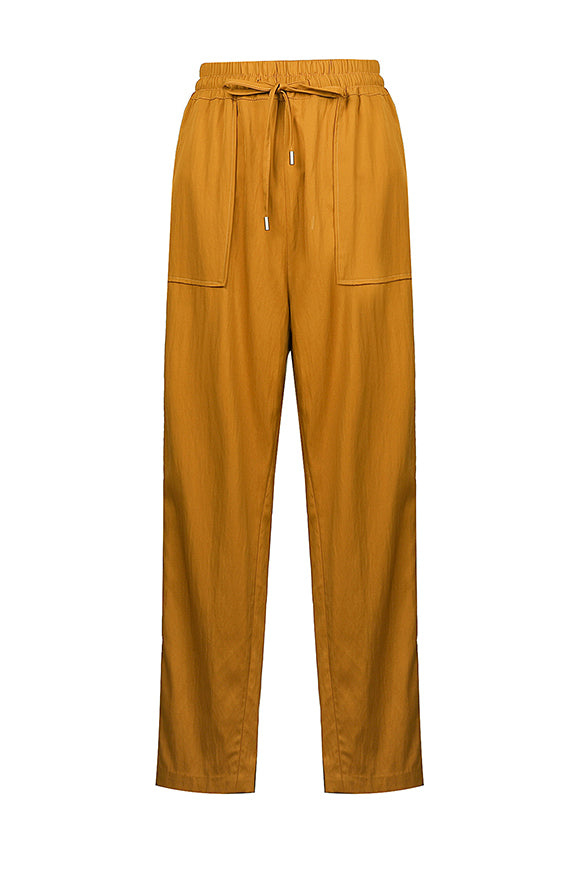 Yellow Drawstring Trousers
