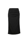 Pleated Split Skirt - Black