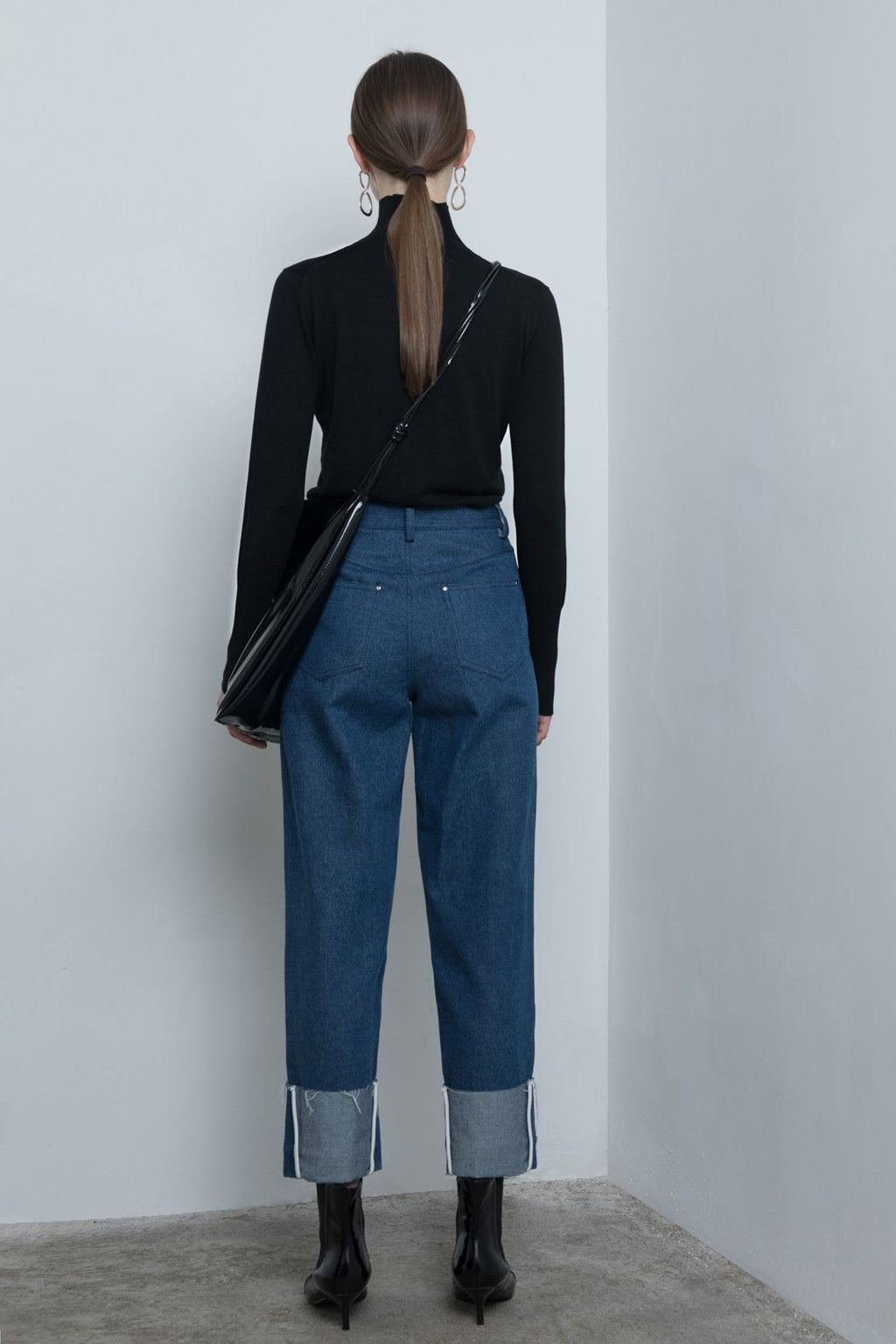 High-Waisted Straight Jeans