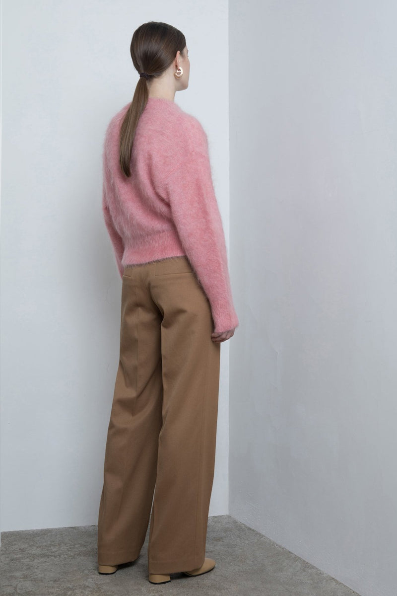 Straight Wide-Leg Trousers