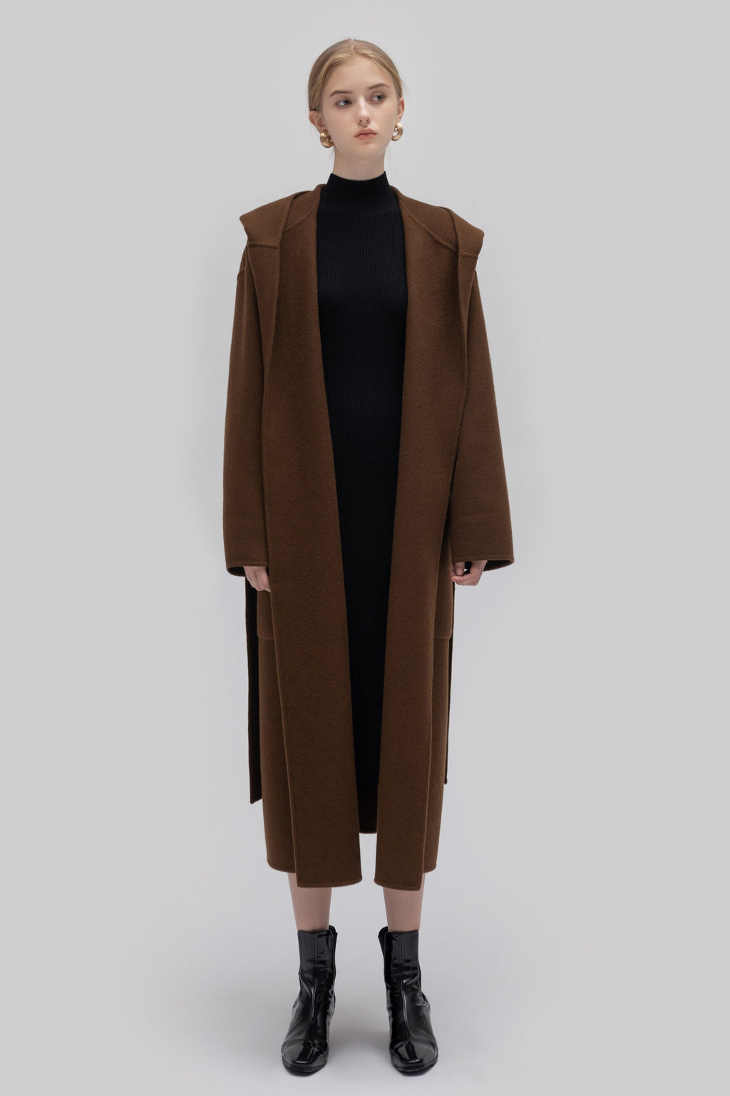 YUEL XIANG oversize hooded coat