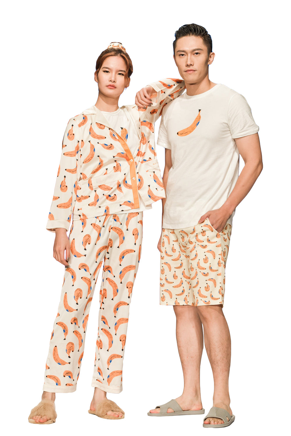 Banana Long-Sleeve Pajamas Set