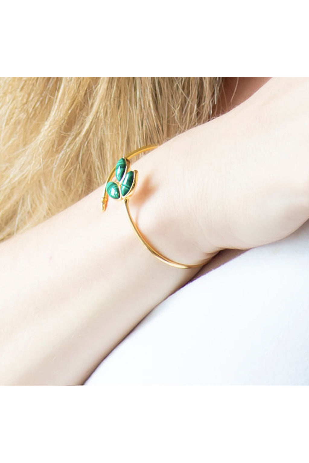 Floral Escape Malachite Wrap Bracelet