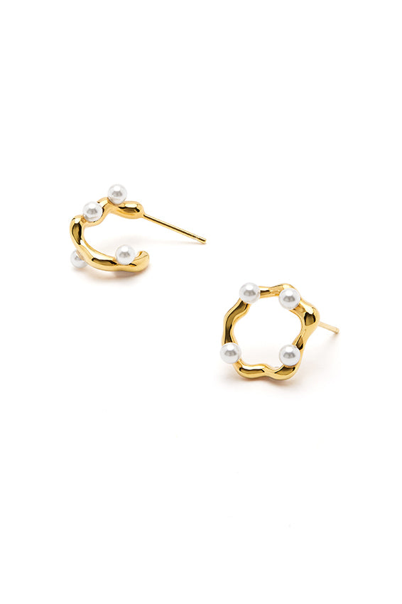 Irregular Round Asymmetrical Earrings