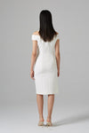 White Strapless Rhinestone Slim Dress