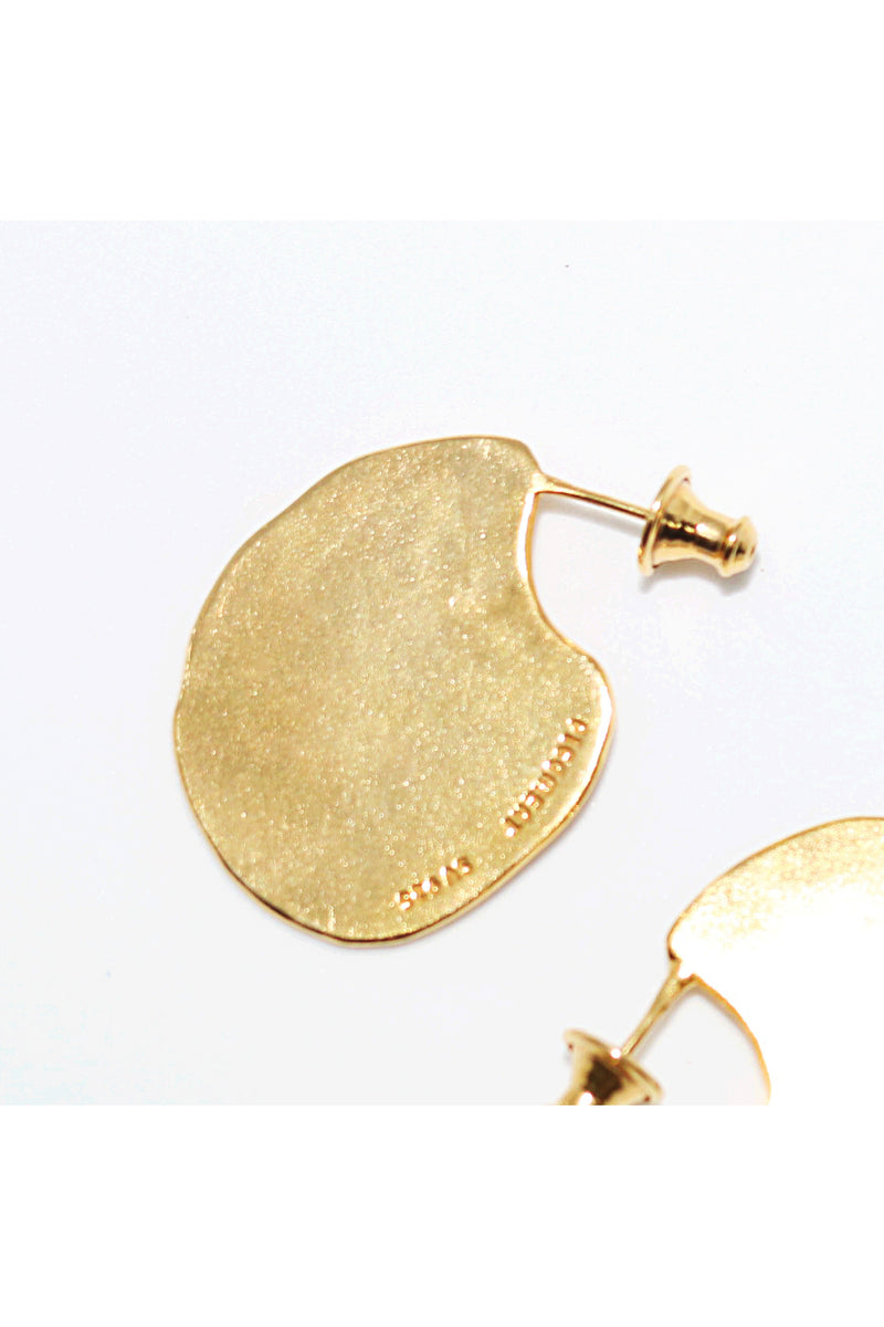 Gold Flat Earrings