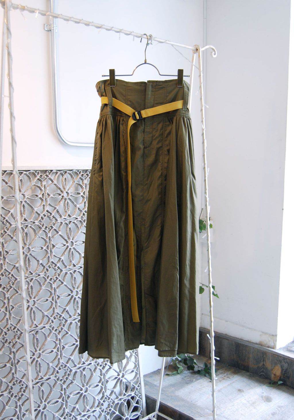 Long Khaki Skirt