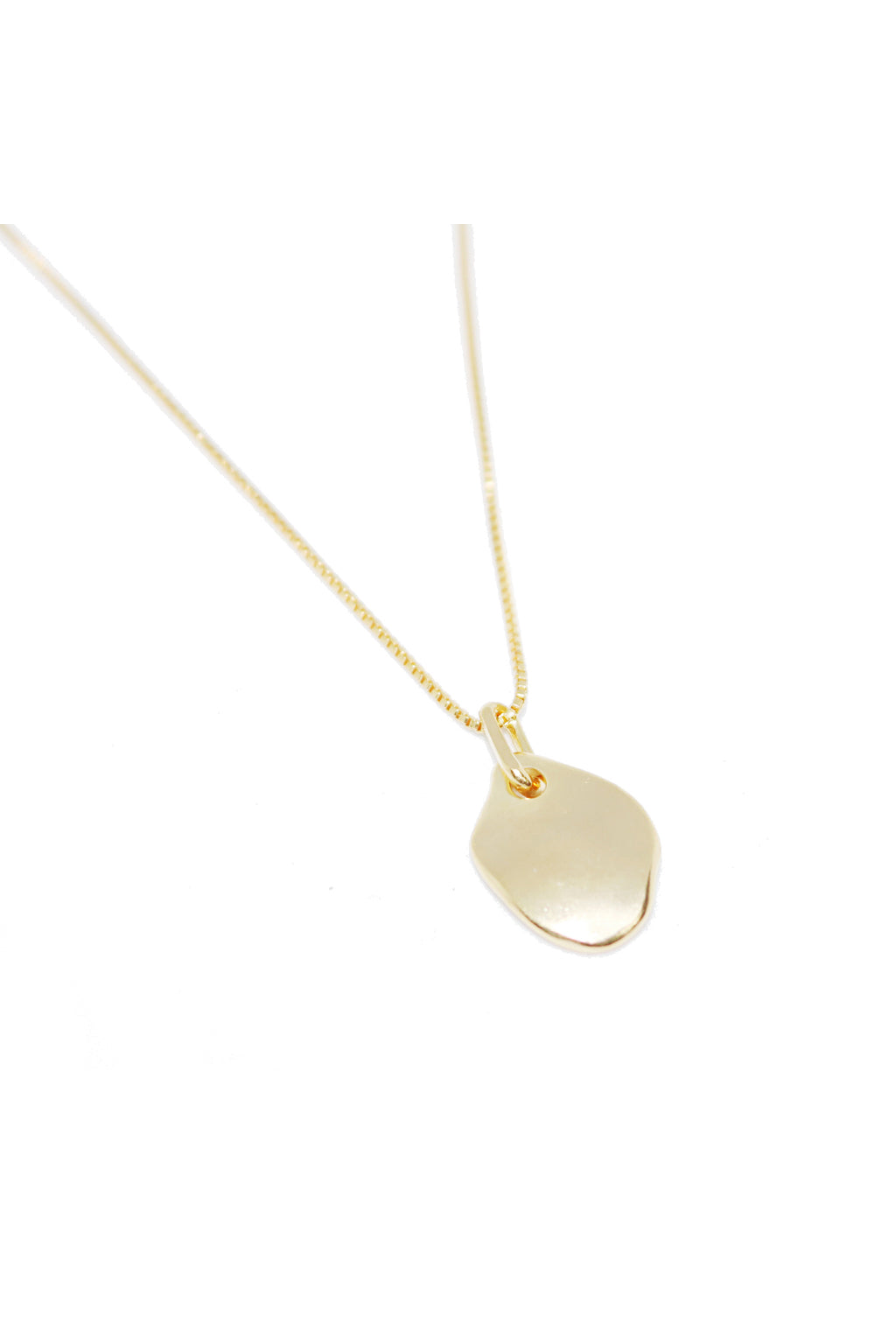 Gold Floating Flat Necklace