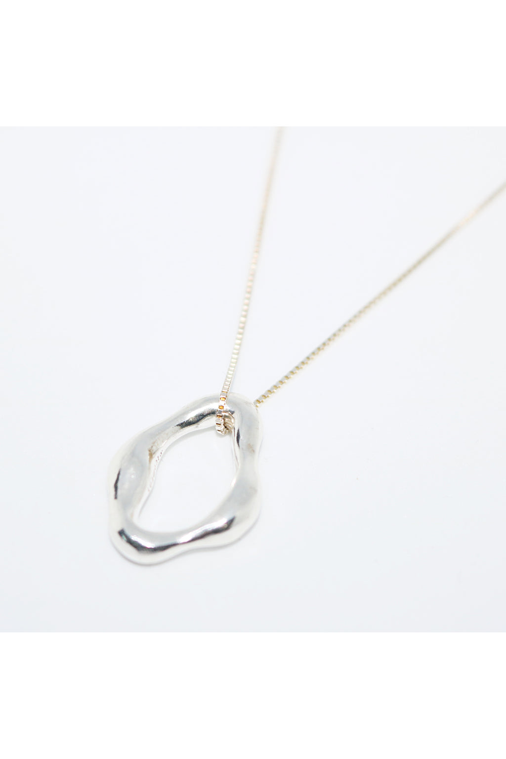 Silver Floating Circle Necklace