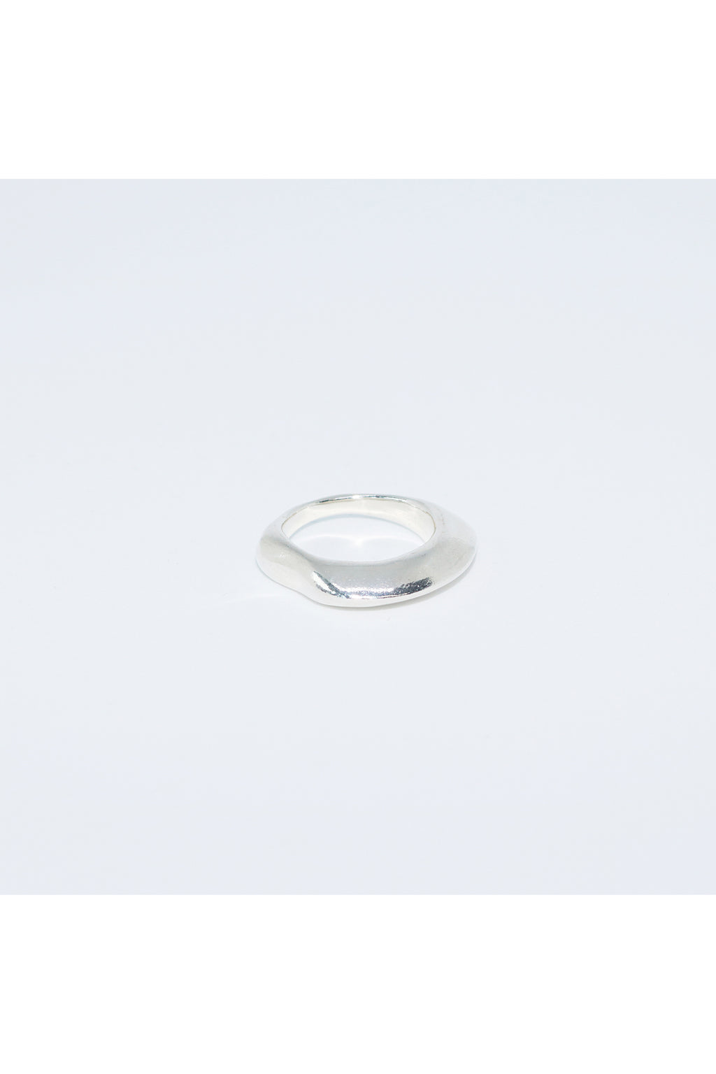 Silver Floating Bony Ring