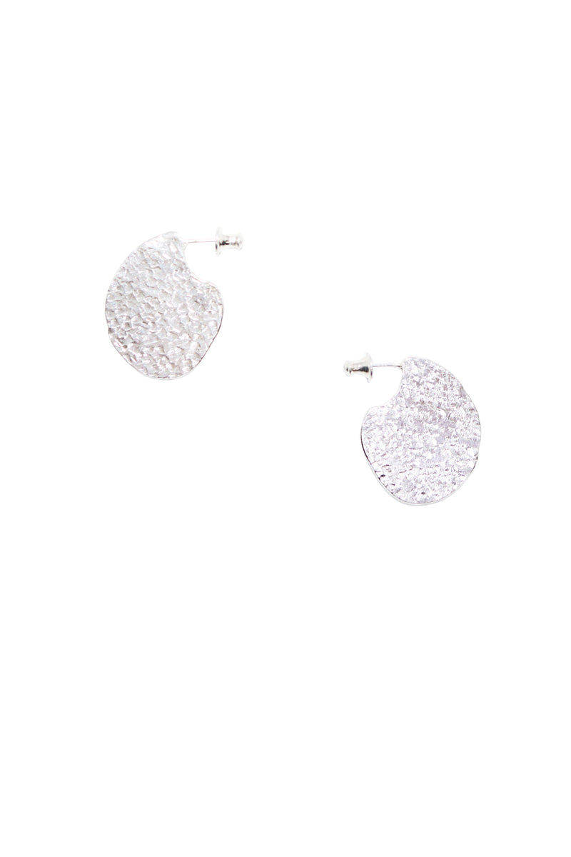 Silver Flat Earrings