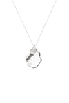 Orlan Baroque Pendant Necklace - Platinum Plated