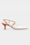 Rita Metallic Strap Sandals - White