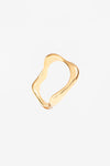 Vanessa Wave Hollow Ring - Gold Plated