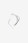 Vanessa Wave Hollow Ring - Platinum Plated