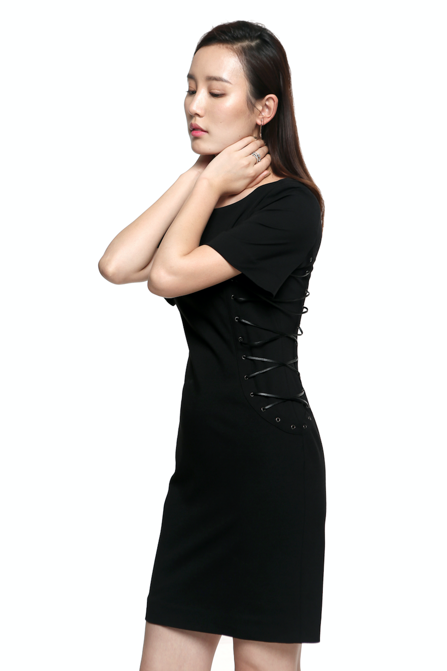 Black Crew Neck Dress