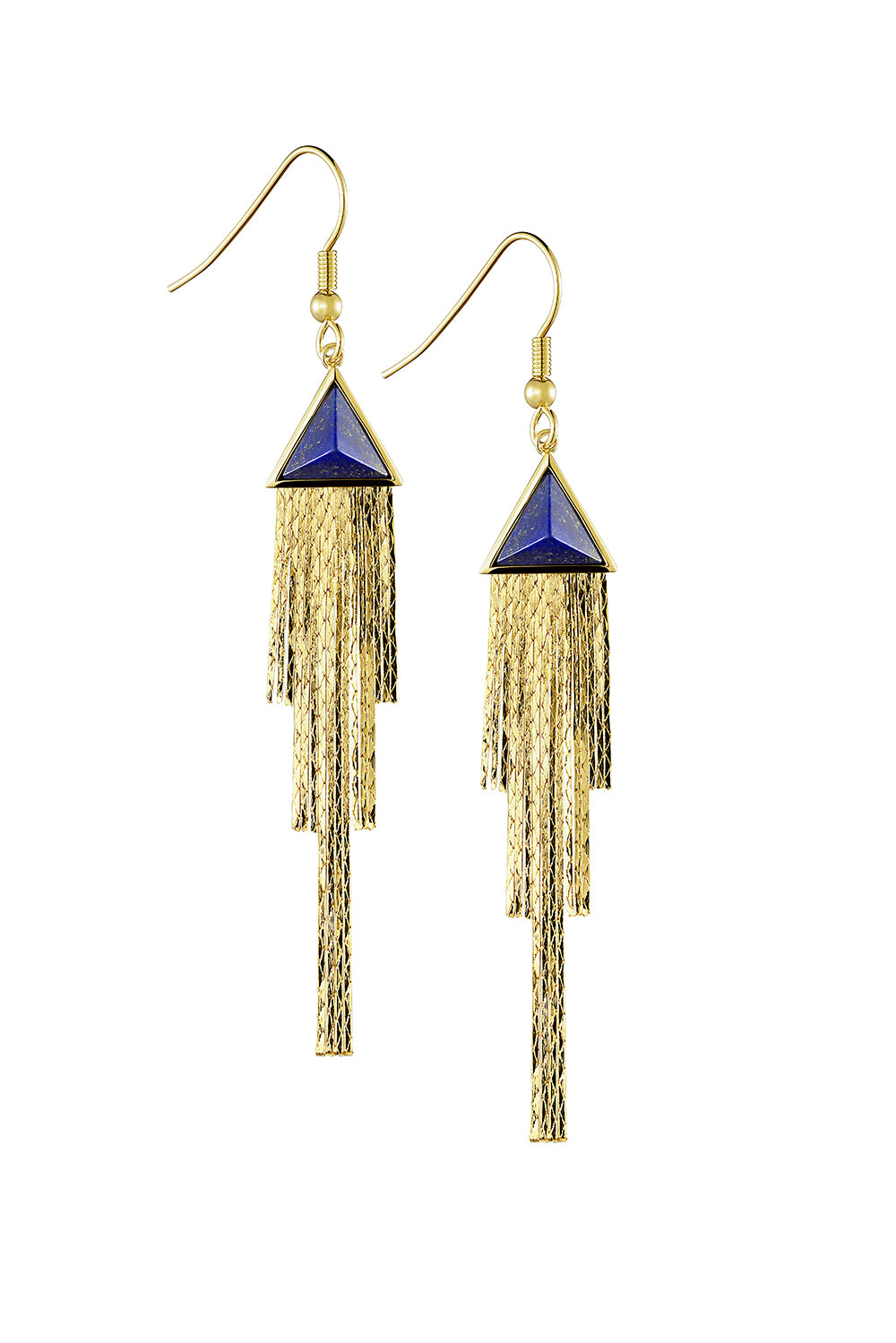 Triangular Fringe Earrings