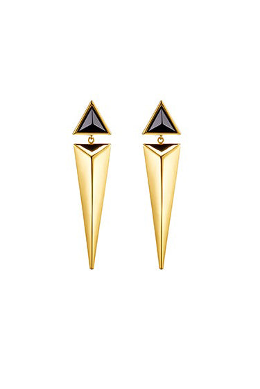 Triangular Cone Earrings