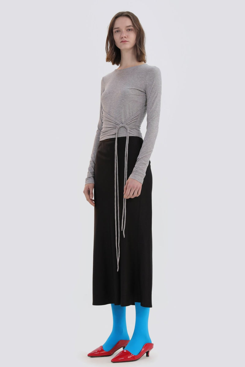 Ribbon Pleated T-Shirt