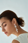 Tear Drop Chandelier L Earrings