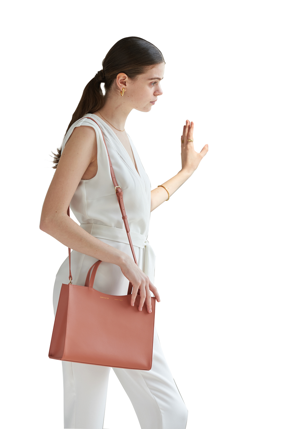 DALES TOTE - Coral Red