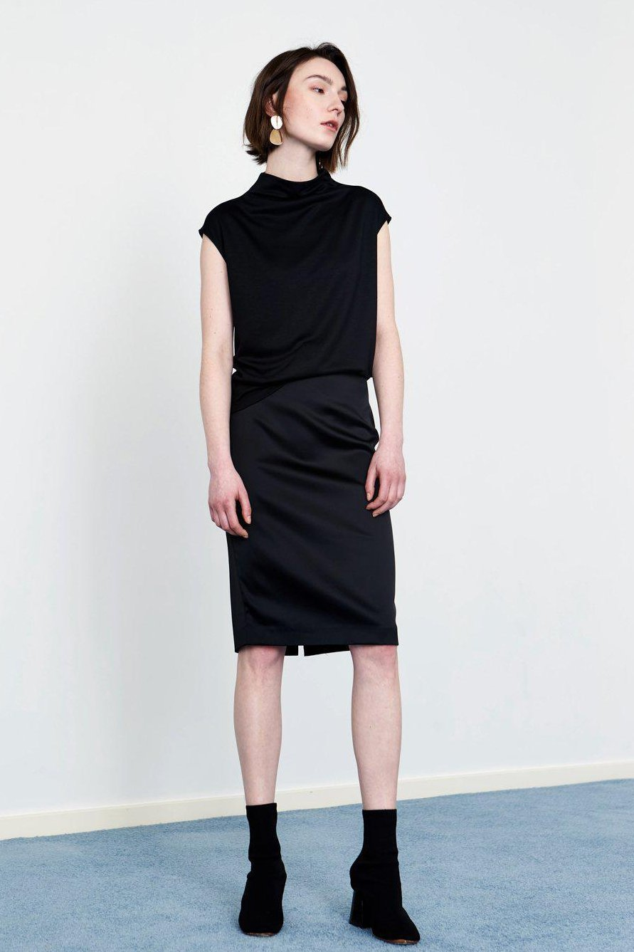 YUEL XIANG classic straight pencil skirt