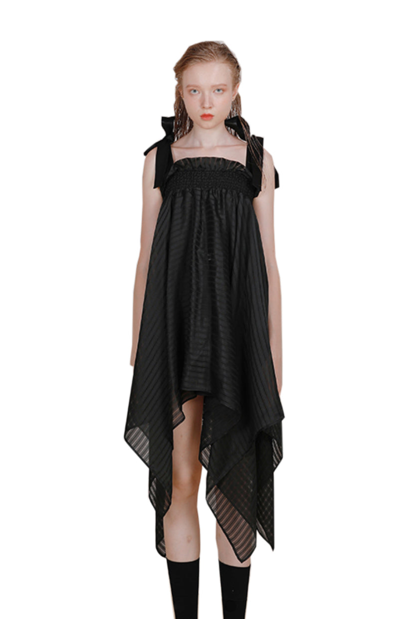Versatile Irregular Hem Silk Dress