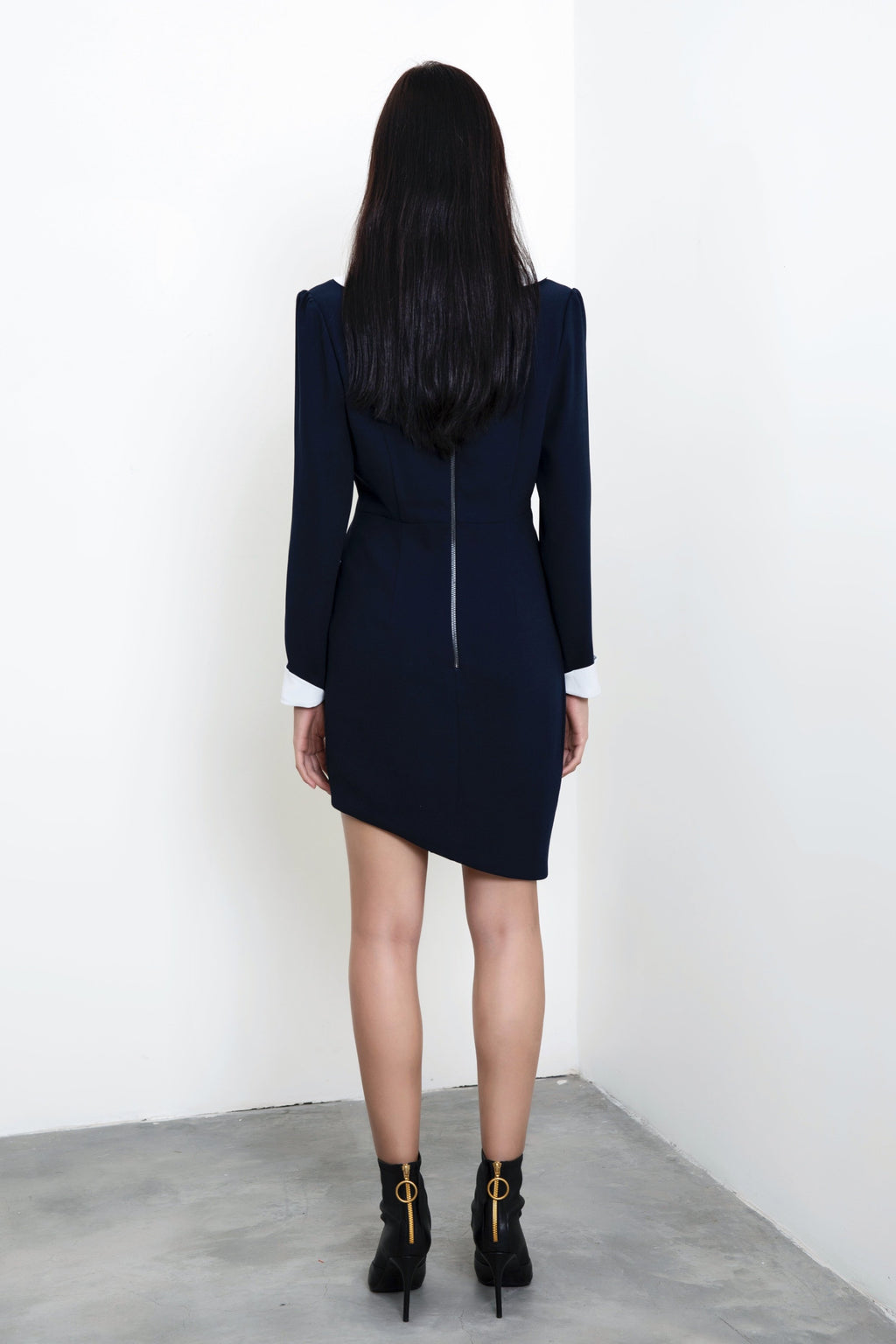FEVER WANG asymmetric-hem dress