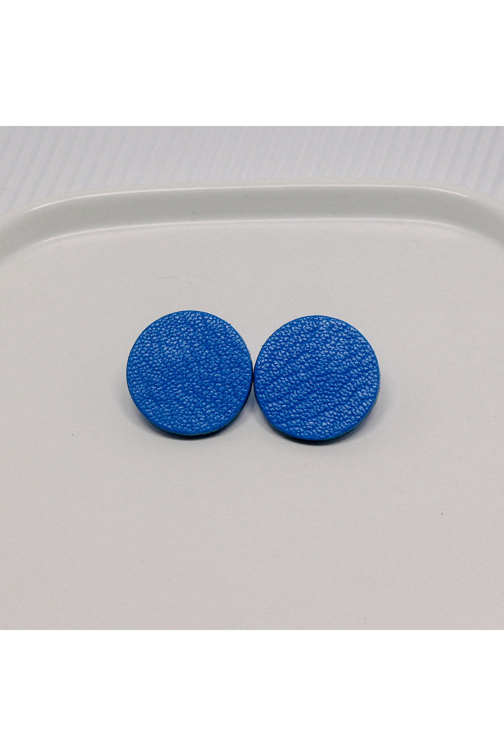 Dot Leather Stud Earrings