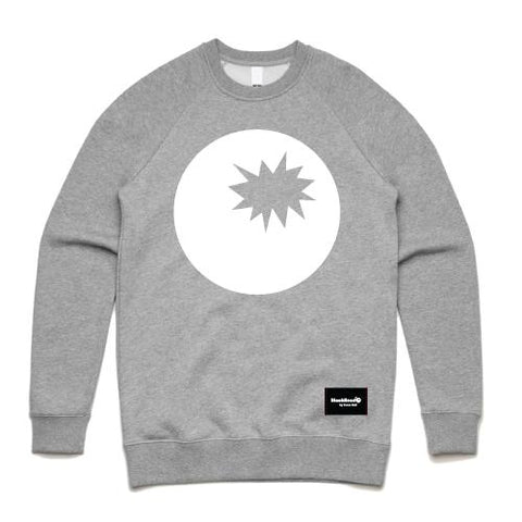 grey crew sweatshirt - grey sweat bomb on front