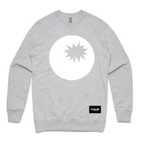 grey marle crew sweatshirt - grey marle sweat bomb on front