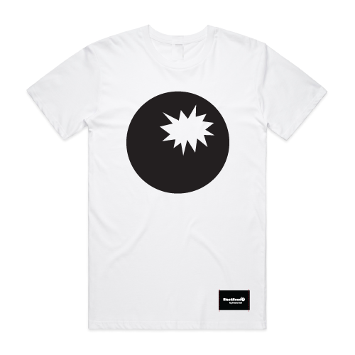 t-shirt white - bomb on front - blackhead-clothing