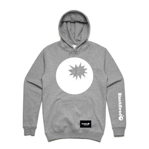 hoodie grey - bomb on hood - blackhead-clothing