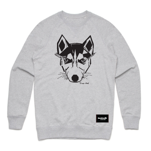 sweatshirt grey - husky - blackhead-clothing